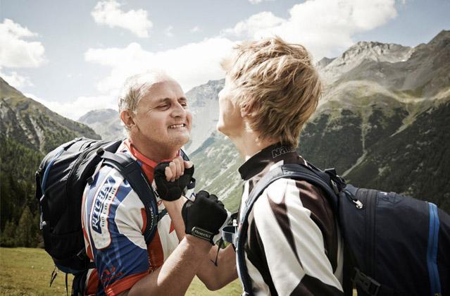 Mountainbiken: Halt duch, Papa
